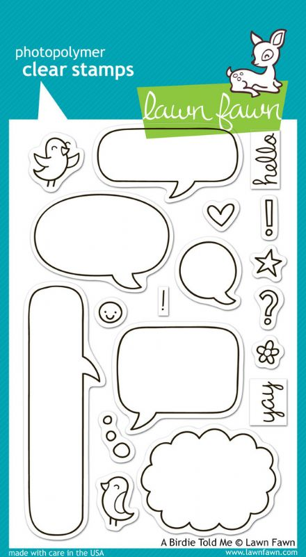 LF0431  ~  A BIRDIE TOLD ME ~ CLEAR STAMPS BY LAWN FAWN
